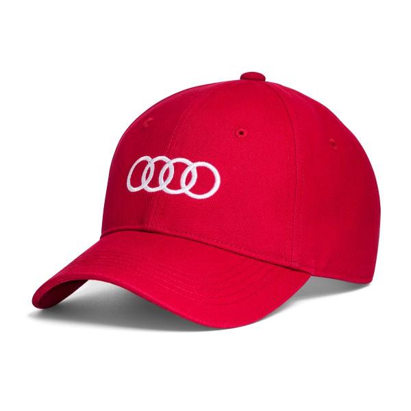 Unisex Baseball cap Audi, czerwona